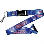 New York Rangers Lanyard, Blue with Detachable Key Tab